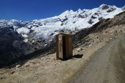 Highest porta-potty in the world