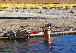 Hot spring in Bolivia