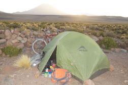 Camping on the pass south of San Juan