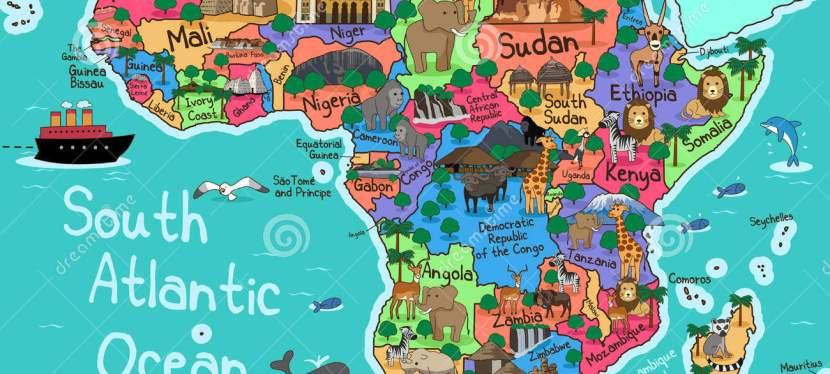 Africa Trip Map