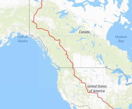 Dempster Hwy Canada to New Orleans USA2019